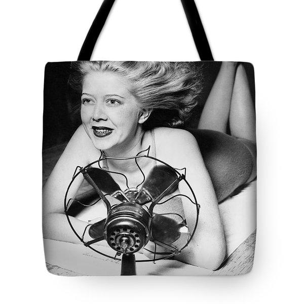 Cooling Fan For Hot Spell Tote Bag by Joe Denarie