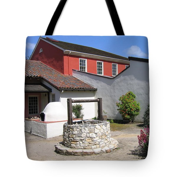 Tote Bag featuring the photograph Cooper-molera Adobe by James B Toy