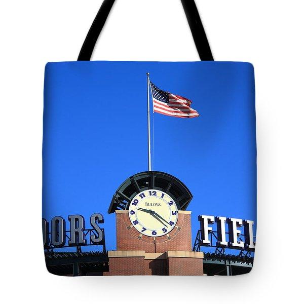Coors Field - Colorado Rockies Tote Bag by Frank Romeo