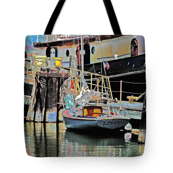 Coos Bay Harbor Tote Bag