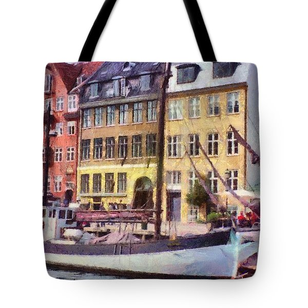 Tote Bag featuring the painting Copenhagen by Jeffrey Kolker