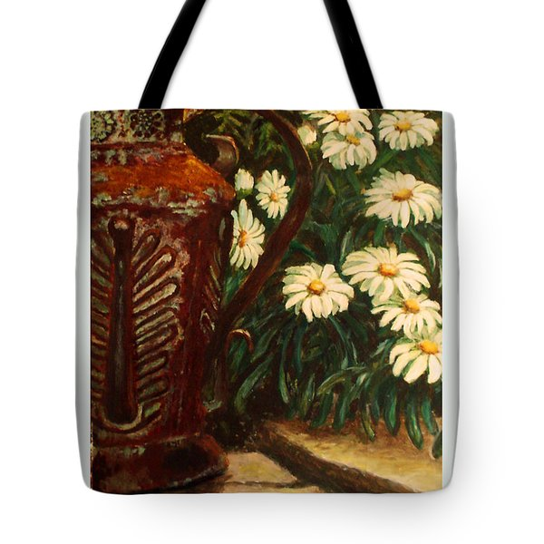 Copper And Daisies Tote Bag