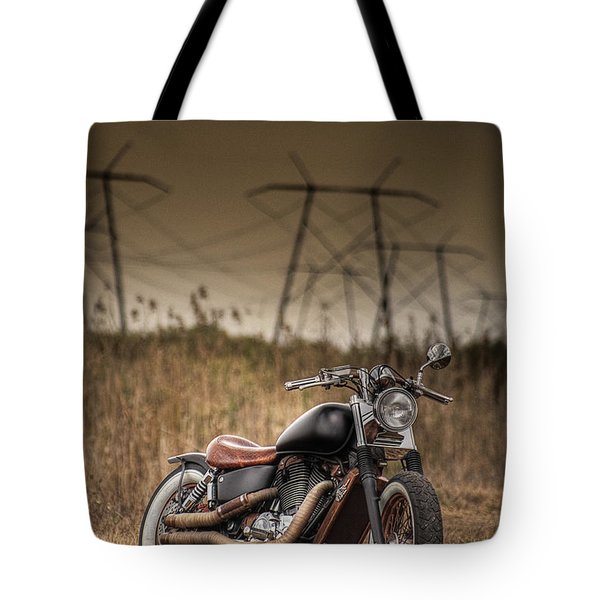 Copper Chopper Tote Bag