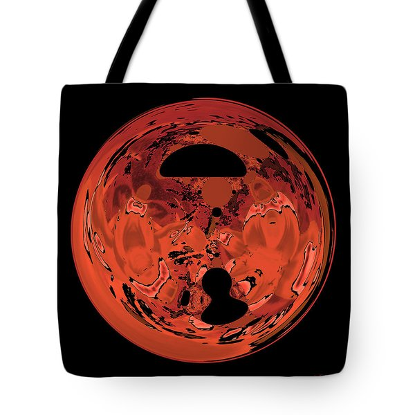 Tote Bag featuring the digital art Copper Disk Abstract by Judi Suni Hall