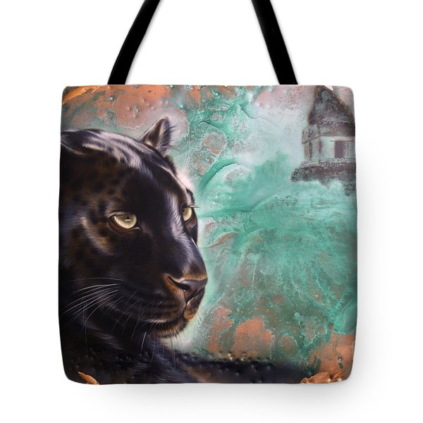Copper Jaguar Tote Bag