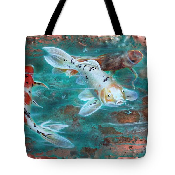 Copper Koi Tote Bag