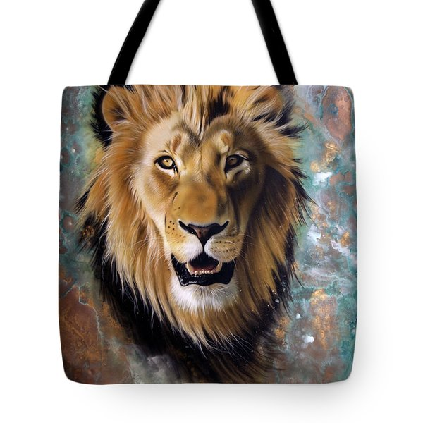 Copper Majesty - Lion Tote Bag