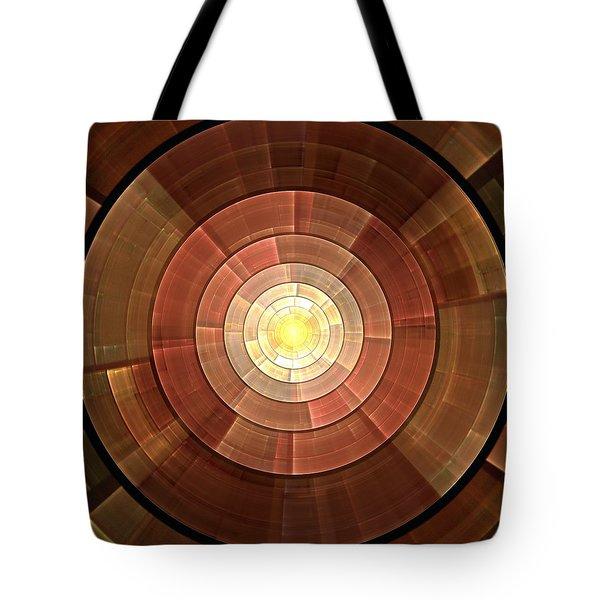 Copper Shield Tote Bag by Anastasiya Malakhova