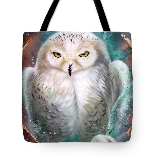 Copper Snowy Owl Tote Bag