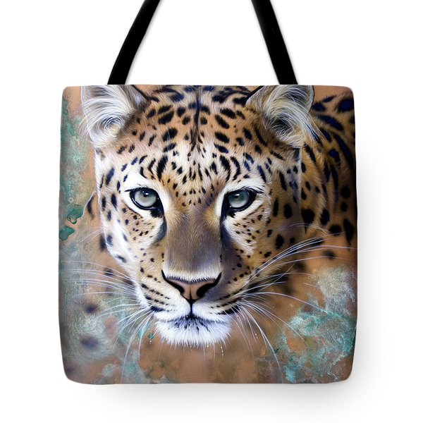 Copper Stealth - Leopard Tote Bag