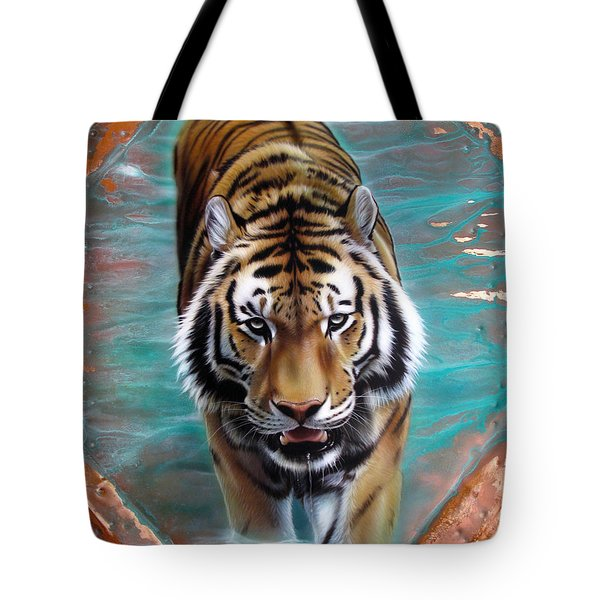 Copper Tiger 3 Tote Bag