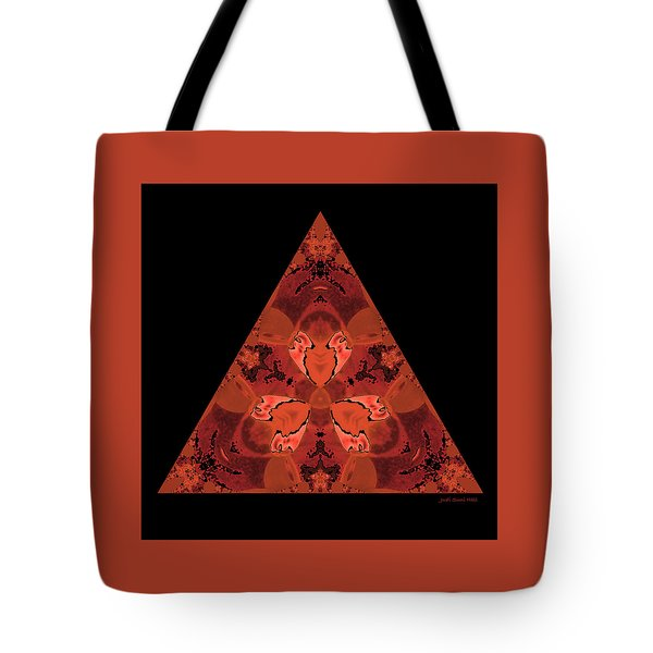 Tote Bag featuring the digital art Copper Triangle Abstract by Judi Suni Hall