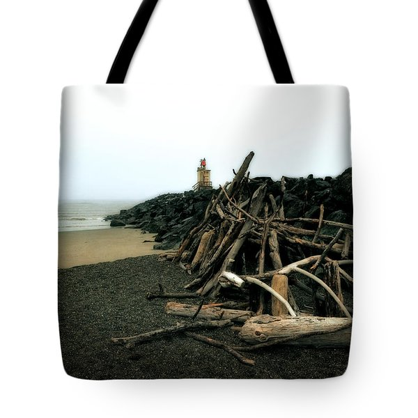 Coquille River South Jetty Tote Bag
