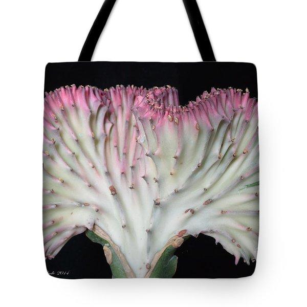 Coral Cactus Tote Bag by Jeannie Rhode