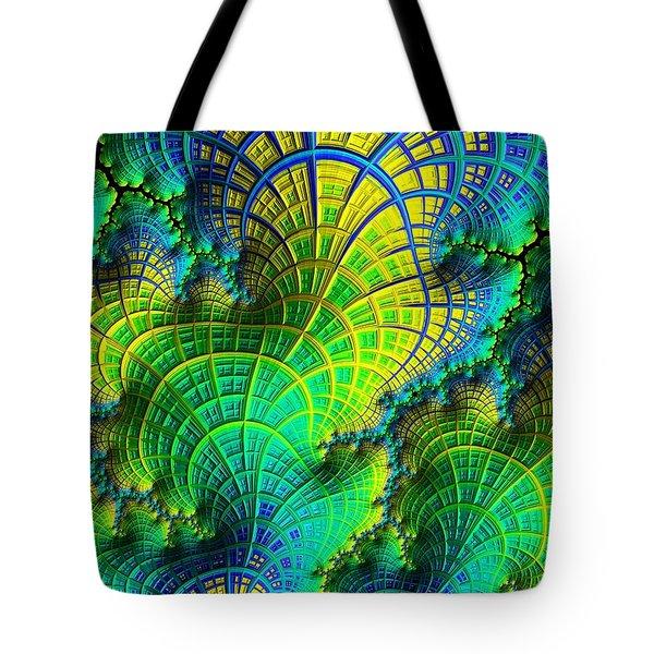 Coral Electric Tote Bag