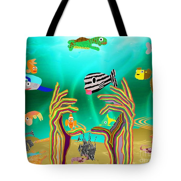 Coral Hands Tote Bag