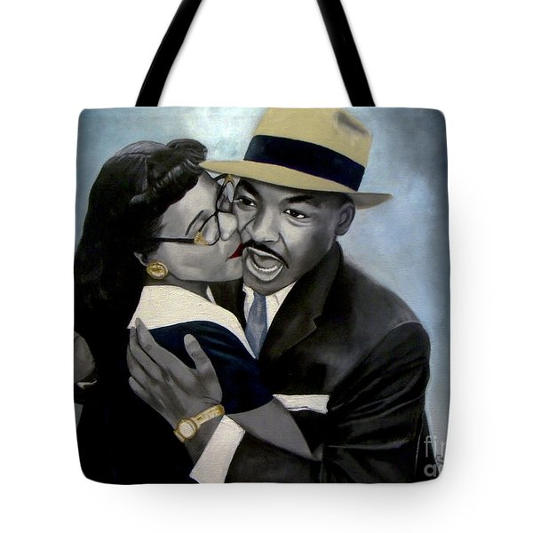 Coretta And Martin Tote Bag by Chelle Brantley