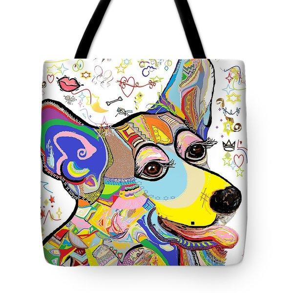 Corgi Cutie Tote Bag by Eloise Schneider