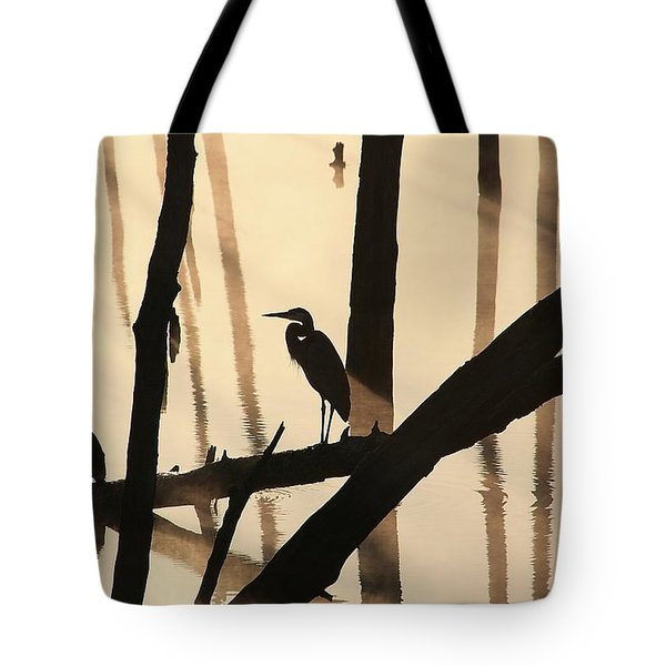 Cormorant And The Heron Tote Bag
