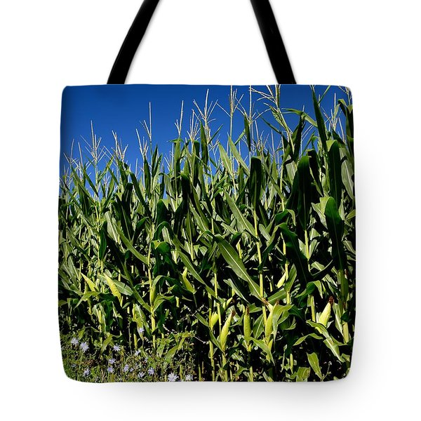 Corn And Wildflowers Tote Bag