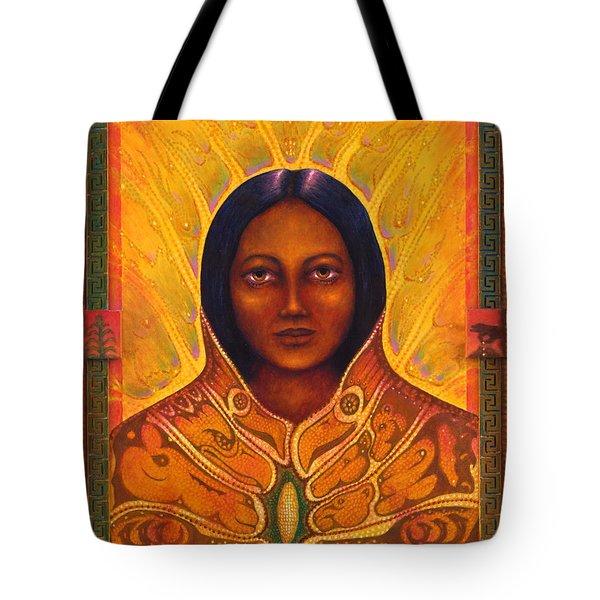 Corn Woman Tote Bag