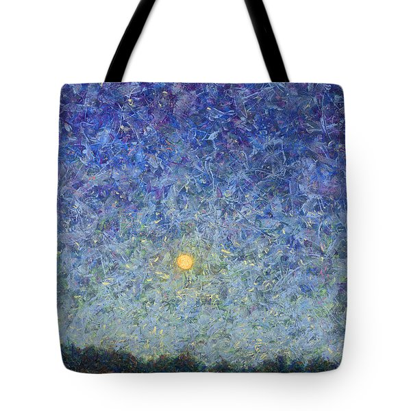 Tote Bag featuring the painting Cornbread Moon by James W Johnson