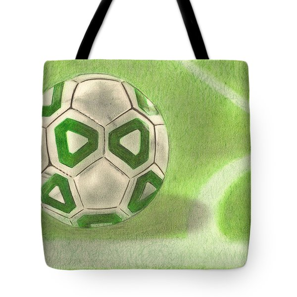 Corner Kick Tote Bag by Troy Levesque