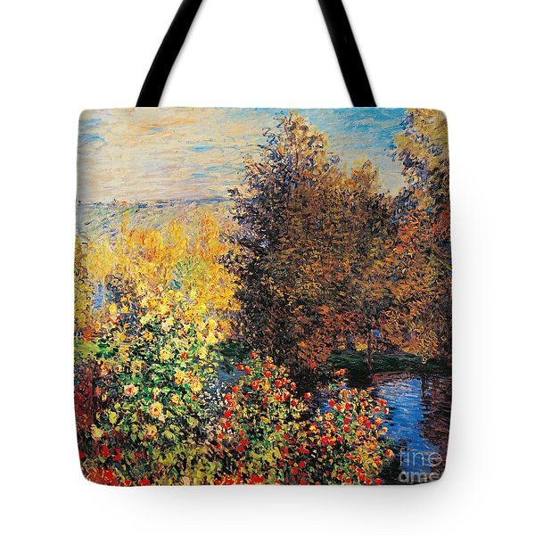 Corner Of Garden In Montgeron Tote Bag by Claude Monet
