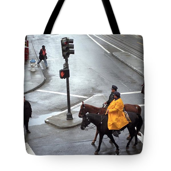 Corner Of Post And Powell Tote Bag