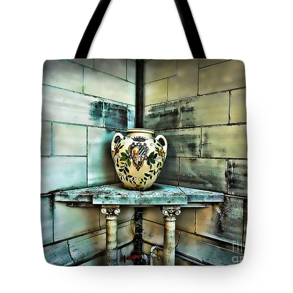 Corner Vase Tote Bag by Joan  Minchak