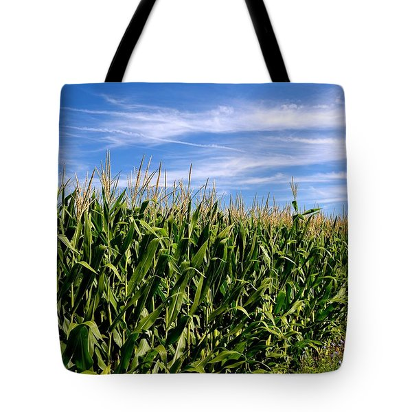 Cornfield And Clouds Tote Bag