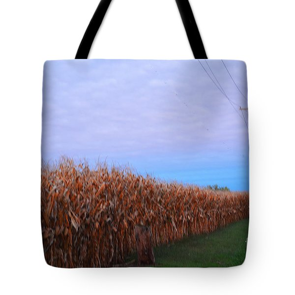 Cornfield In Autumn Tote Bag by Luther Fine Art