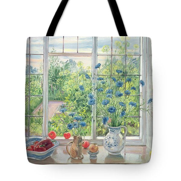 Cornflowers And Kitchen Garden Tote Bag