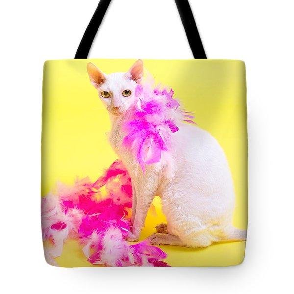 Cornish Rex Tote Bag by Verena Matthew