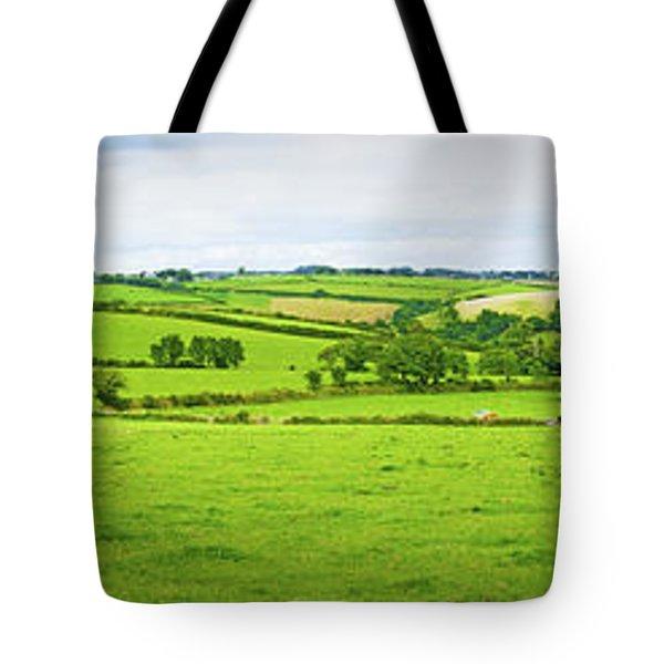 Cornwall Panorama Color Tote Bag