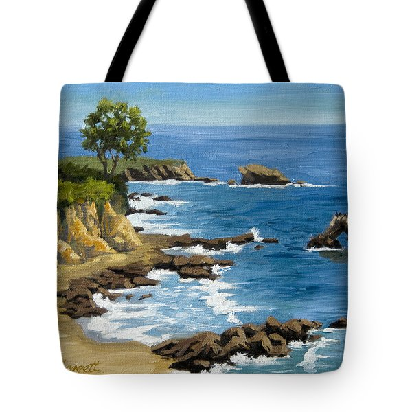 Corona Del Mar California Tote Bag by Alice Leggett