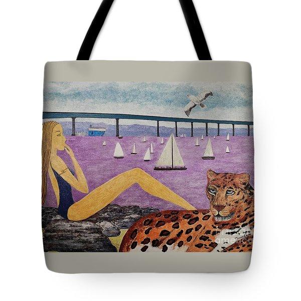 Coronado Bridge   San Diego Tote Bag by Jasna Gopic