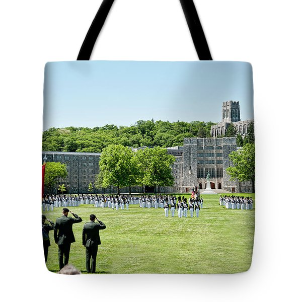 Corps Of Cadets Present Arms Tote Bag by Dan McManus