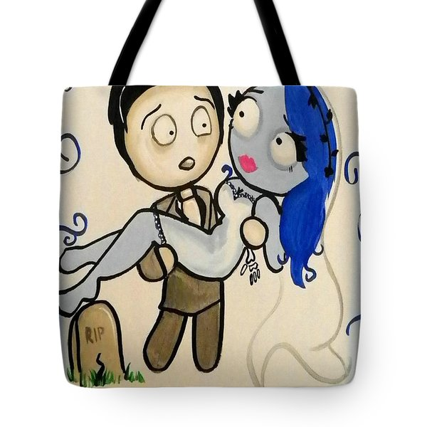 Corpse Bride Tote Bag by Marisela Mungia
