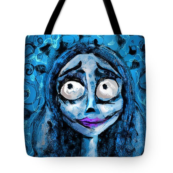 Corpse Bride Phone Sketch Tote Bag