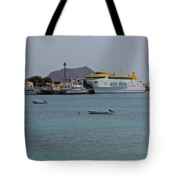 Corralejo Harbour Tote Bag