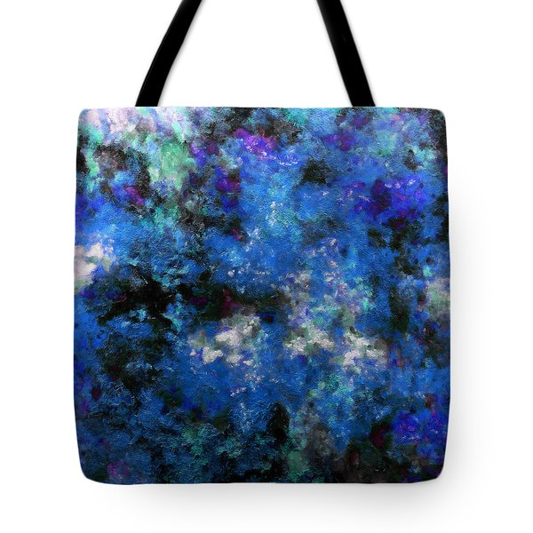 Corrosion Bleue Tote Bag by RochVanh