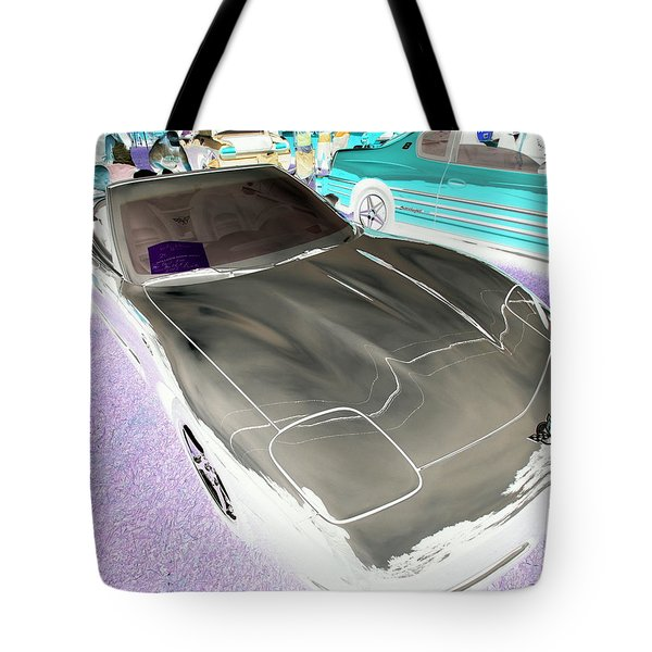 Tote Bag featuring the photograph Corvette 2003 50th Anniv. Edition by John Schneider