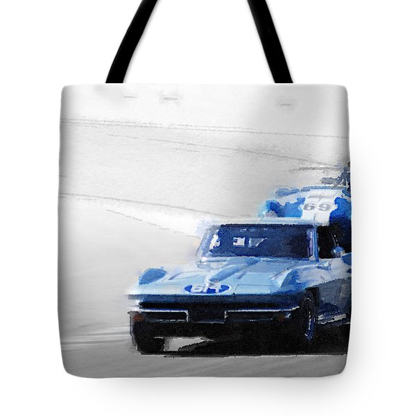Corvette And Ac Cobra Shelby Watercolor Tote Bag
