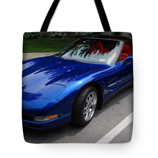 Corvette By Chevrolet At Fifty Tote Bag