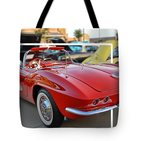 Tote Bag featuring the photograph Corvette Cool by Dyle   Warren