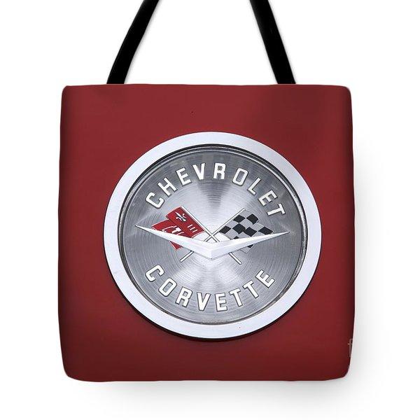 Corvette Emblem Tote Bag by Neil Zimmerman