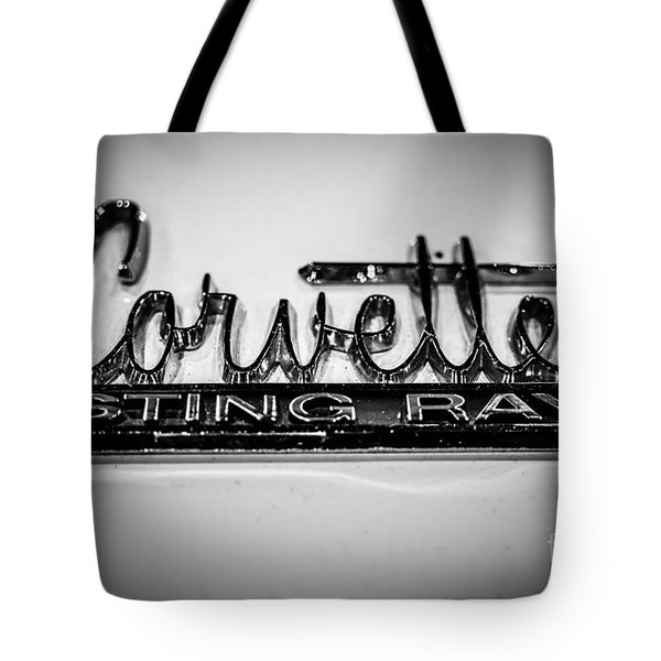 Corvette Sting Ray Emblem Tote Bag by Paul Velgos