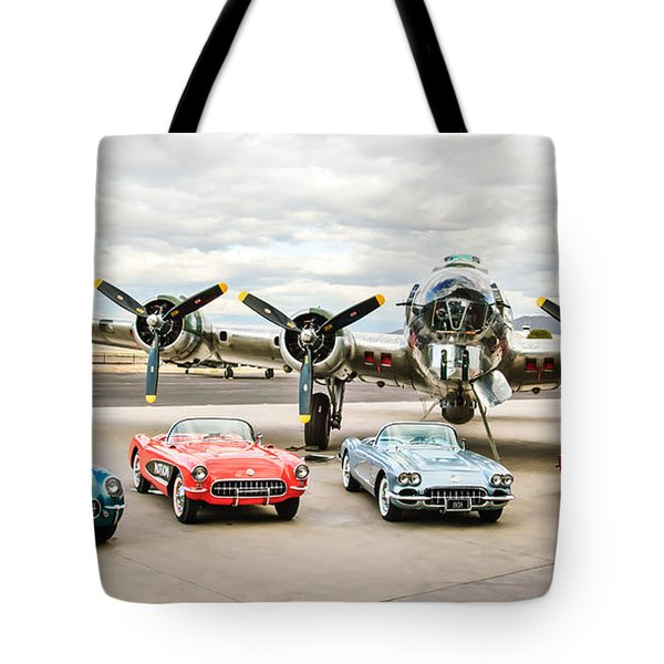 Corvettes And B17 Bomber -0027c23 Tote Bag