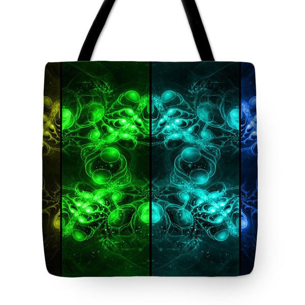 Cosmic Alien Eyes Pride Tote Bag by Shawn Dall